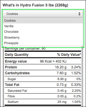 Improved label system, with nutrition facts conc